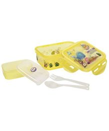 Jewel Printed Transparent Lunch Box - Yellow