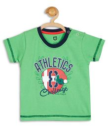 Baby League Half Sleeves T-Shirt Athletics Print - Green