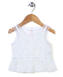 Miss Pretty Attractive & Trendy Top - White