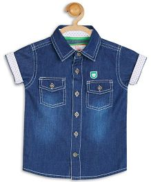 Baby League Half Sleeves Denim Shirt - Blue