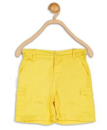 Baby League Twill Shorts Solid Color - Yellow