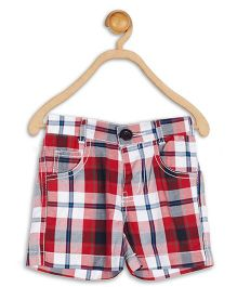 Baby League Check Shorts - Red