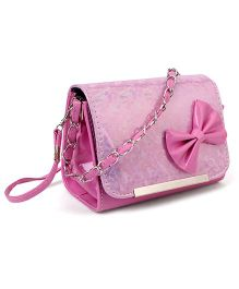 The Eed Pretty & Stylish Sling Bag With Bow Attached - Pink