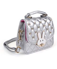 The Eed Rabbit Face Sling Bag - Silver