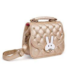 The Eed Rabbit Face Sling Bag - Golden