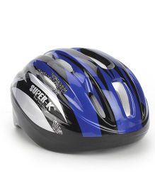 Super K Sports Helmet - Black And Blue