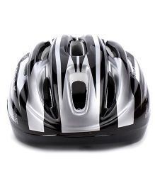 Super K Sports Helmet - Black And Silver