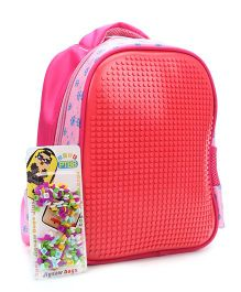 The Eed Flower Print Design School Bag - Red