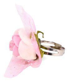 Sugarcart Rose Adjustable Finger Ring - Pink