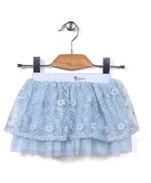 Little Coogie Short Floral Skirt - Blue