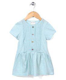 Candy Hearts Short Sleeve Dress - Blue