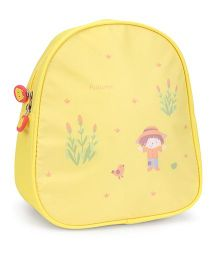 The Eed Cartoon & Autumn Print School Backpack - Yellow