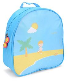 The Eed Summer & Tree Print School Backpack - Blue