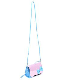 The Eed Pretty & Stylish Sling Bag With Bow Attached - Blue