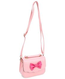 The Eed Pretty & Stylish Sling Bag With Bow Attached - Peach