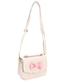 The Eed Pretty & Stylish Sling Bag With Bow Attached - Cream