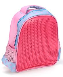 The Eed Stylish & Appealing School Backpack Pink & Sky Blue - 11 inch