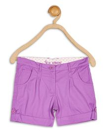 612 League Twill Shorts With Pleat - Purple