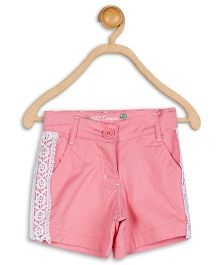 612 League Twill Shorts With Lace - Pink