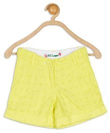 612 League Hakoba Pattern Shorts - Yellow