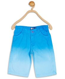 612 League Ombre Effect Knee Length Shorts - Light Blue