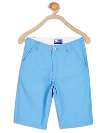 612 League Poplin Knee Length Plain Shorts - Blue