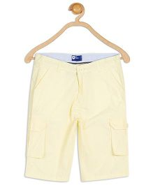 612 League Cotton Knee Shorts Solid Color - Light Yellow