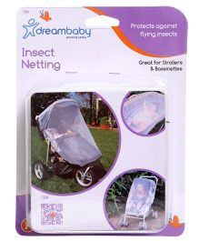 Dreambaby Stroller and Bassinet Insect Netting - White