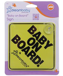Dreambaby Baby On Board Sign Board - Yellow