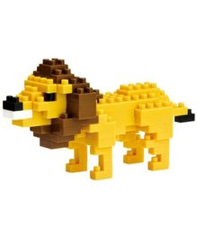 X-BLOCK Sausage Dog Building Blocks Yellow And Brown - 120 Pieces
