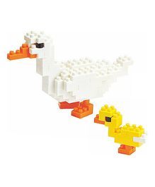 X-BLOCK Duck Building Blocks White And Yellow - 70 To 200 Pieces