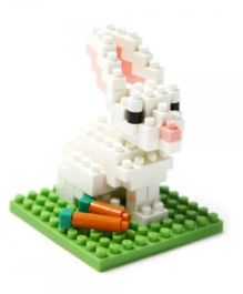 X-BLOCK The White Rabbit Building Blocks White And Green - 70 To 200 Pieces