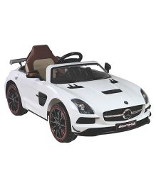 HLX NMC Battery Operated Mercedes benz Amg Car - White