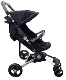 Babyelle Smart Pack N Go Portable Pram - Black