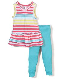 Candy Rush Sleeveless Top & Legging Set - Multicolor