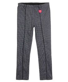 Barbie Jeggings Tweed and Logo Print - Dark Grey