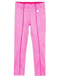 Barbie Jeggings Tweed and Logo Print - Pink