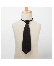Brown Bows Plain Tie - Black
