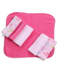 Little Wacoal Soft Wash Cloths (Pack of 6) - Pink