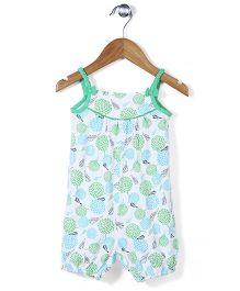 Beebay Singlet Jumpsuit Bow Applique - Green
