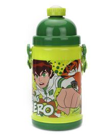 Ben 10 Going Hero Push Button Sipper Bottle Green - 480 ml