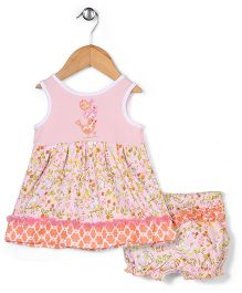 Happi By Dena Sparrow Print Dress With Bloomer - Pink