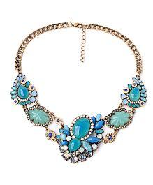 Dells World Intricate Design Necklace - Blue