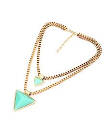 Dells World Pendent With A Chain - Blue
