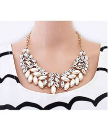 Dells World Crystal Necklace - White