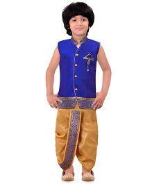 Jeet Ethnics Silk Blended Sleeveless Dhoti Kurta Set - Royal Blue