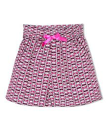 Soul Fairy Merc Printed Flared Shorts - Pink