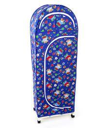 New Natraj Jumbo Toy Box With Wheels Duck Print - Dark Blue