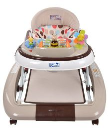Baby Steps Premium Musical Baby Walker Cum Rocker - Brown
