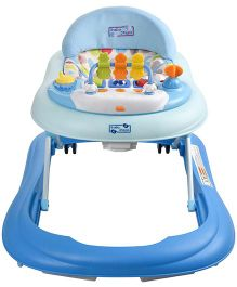 Baby Steps Premium Musical Baby Walker With Break Pads - Blue